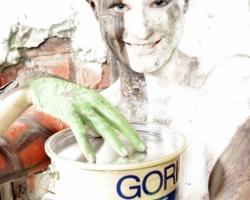 Bodypaintingmodell für die Farbe Messe München_9